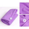 Hair Turban Towel Purple