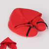 Travel Pillow with Hood Red / 30X28X9