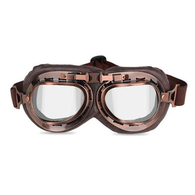 Vintage Motorcycle Goggles White