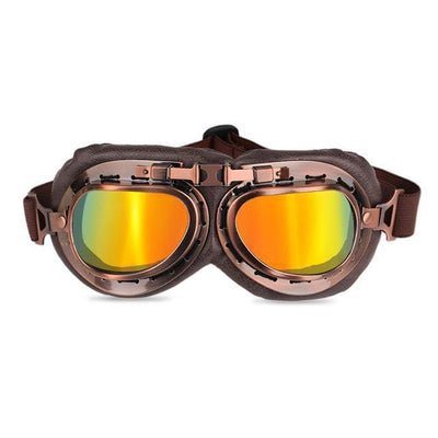 Vintage Motorcycle Goggles LightGoldenrodYellow