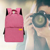 Waterproof DSLR Camera Backpack Rose Red