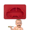 No Mess Baby Plate Red