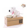 Dog Coin Bank white