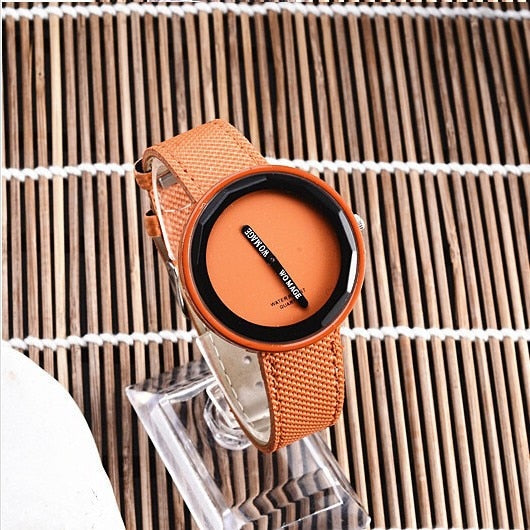 WoMaGe Simple Leather Strap Watch for Women