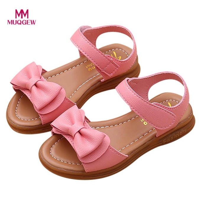 MUQGEW hot sale shoes Children Kids Infant Girls Bowknot Sandals Non-Slip Princess Casual Shoes Butterfly-knot All Seasons shoes