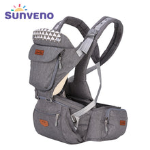 Load image into Gallery viewer, SUNVENO Ergonomic Baby Carrier Infant Baby Hipseat Carrier Front Facing Ergonomic Kangaroo Baby Wrap Sling for Baby Travel 0-36M