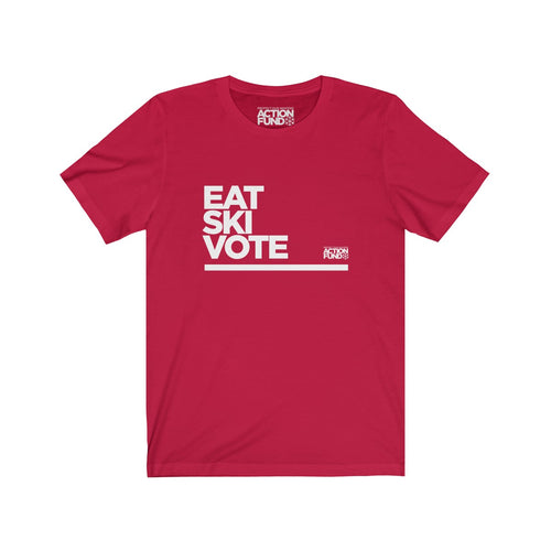 Men's Eat. SKI. Vote. Tee