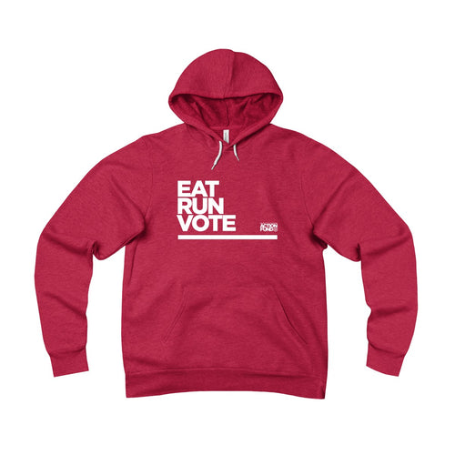 Unisex Eat. RUN. Vote. Fleece Pullover Hoodie