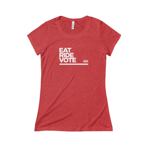 Women's Eat. RIDE. Vote. Tee