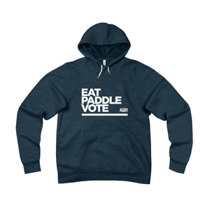 Unisex Eat. PADDLE. Vote. Fleece Pullover Hoodie