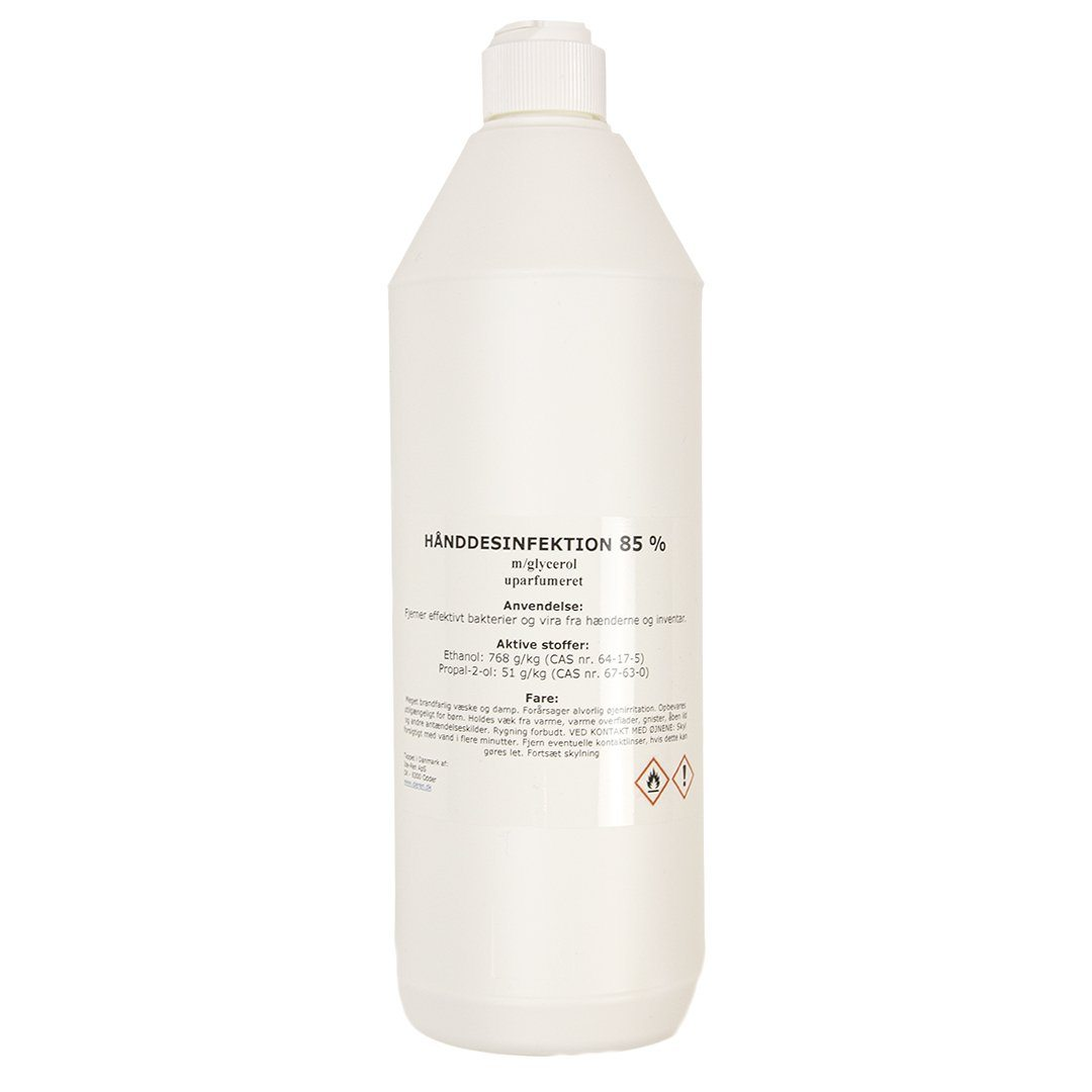Image of   Håndsprit- Hånddesinfektion 85% 1000 ml (1 stk)