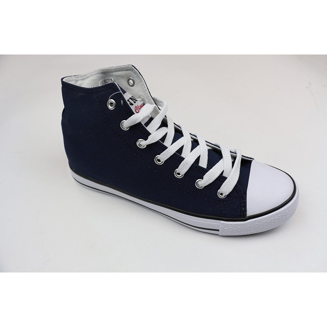 Image of   Canvas boot- Herre- Navy-Sort- Grå (40 / Navy)