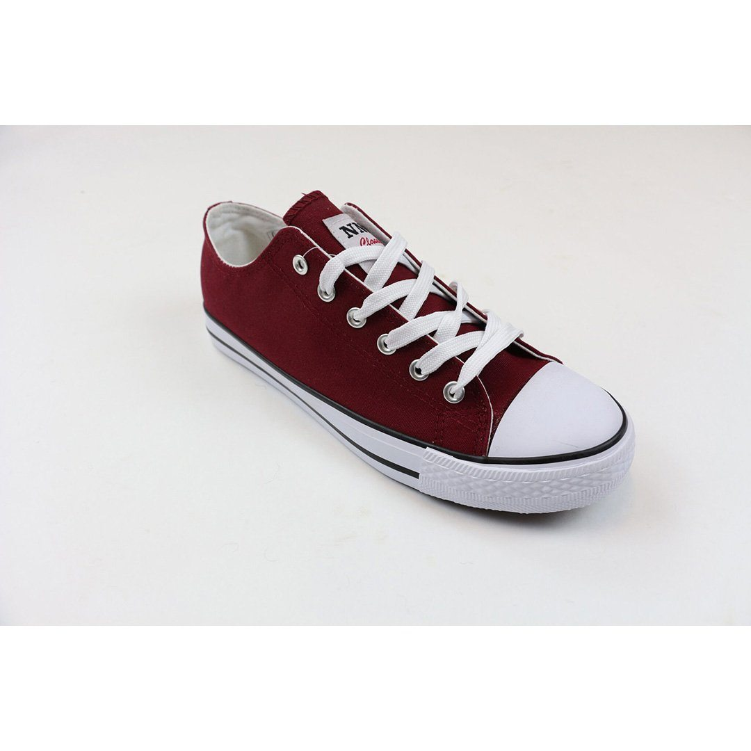Image of   Canvas sko- Herre- Navy-Sort- Bordeaux (40 / bordeaux)