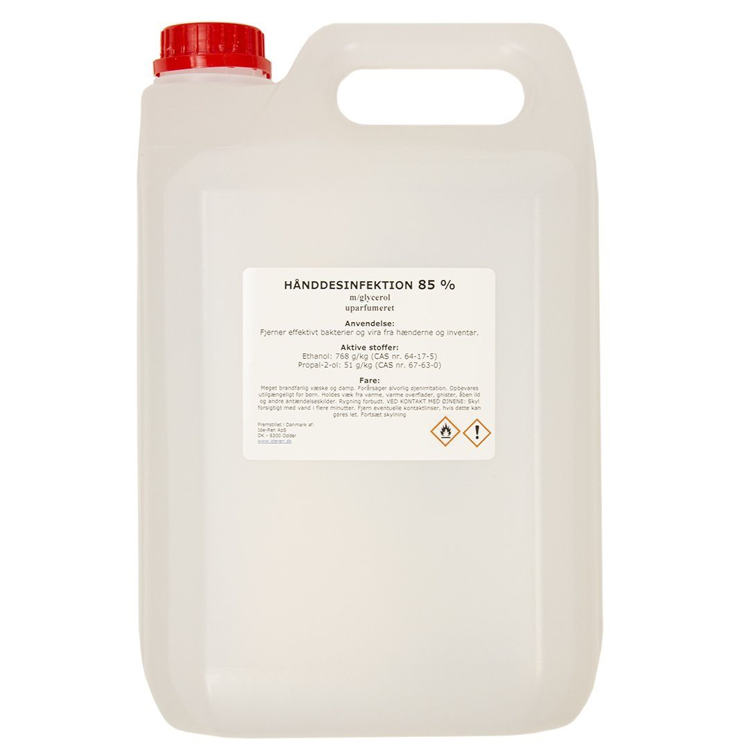 Image of   Håndsprit- Hånddesinfektion 85% 5000 ml (3 stk)