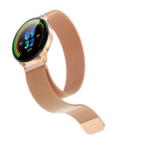 Smart Activity tracker ur i rustfrit stål Konkurspriser ny Rose Gold