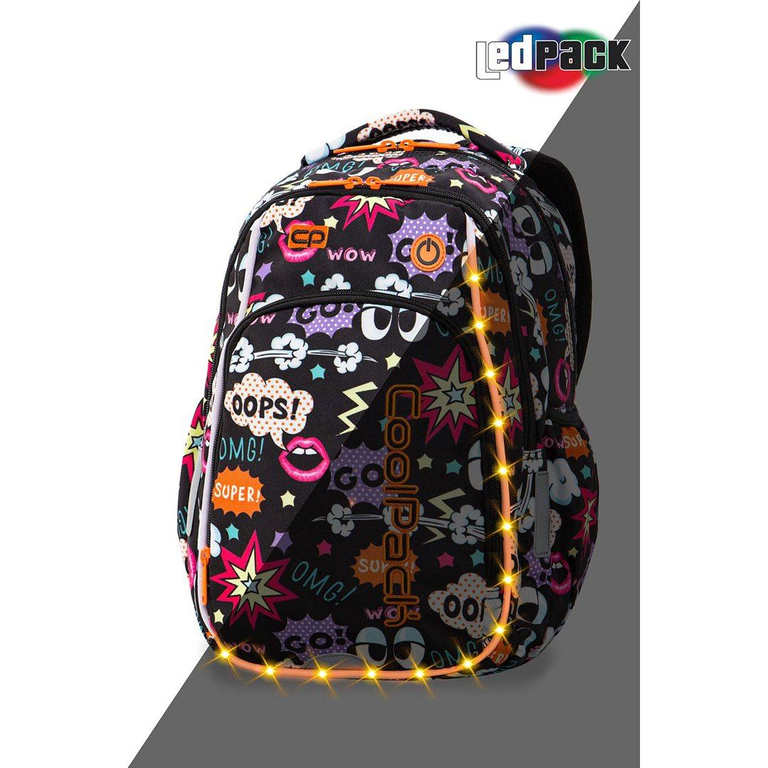 Image of   Coolpack led skoletaske-Strike S-Comics
