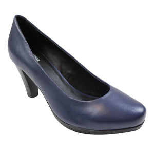 SOON - Dingo Dame Pumps Læder - Navy Konkurspriser 36