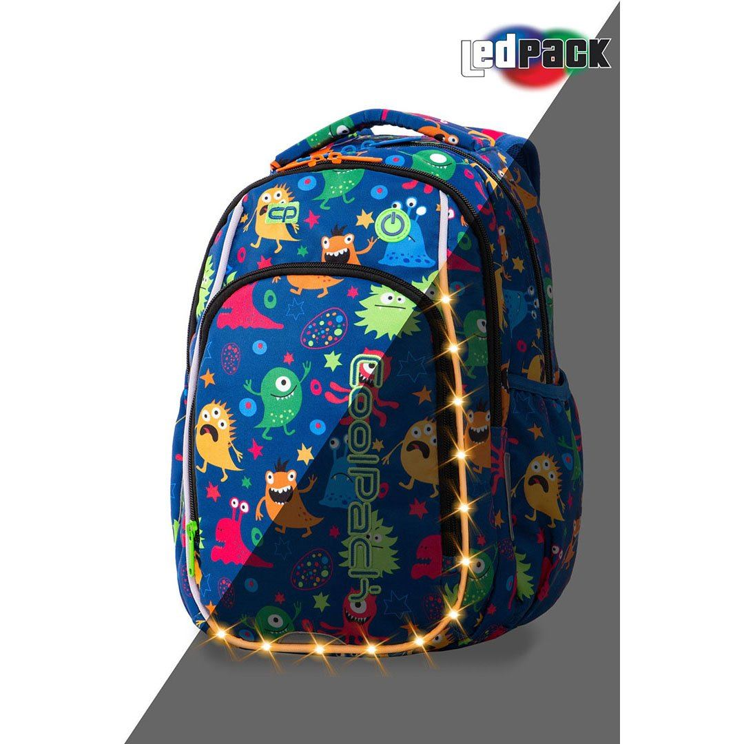Image of   Coolpack led skoletaske-Strike S-Funny Monsters