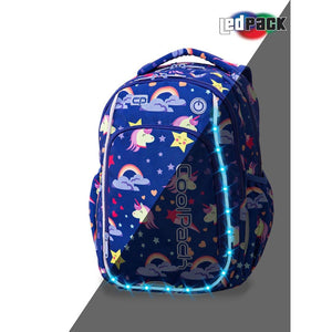 Coolpack led skoletaske-Strike S-Unicorns