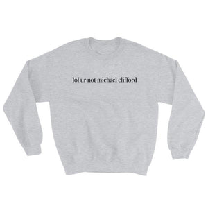 lol ur not michael clifford Sweatshirt