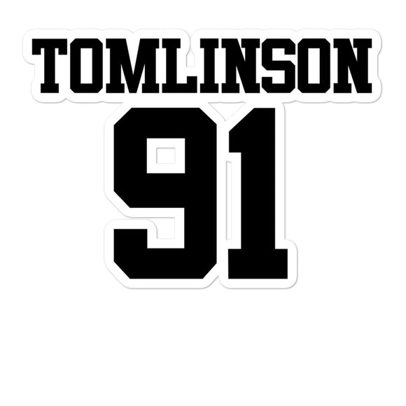 Tomlinson 91 Bubble-free stickers