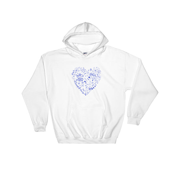 To All The Boys Doodles Hooded Sweatshirt