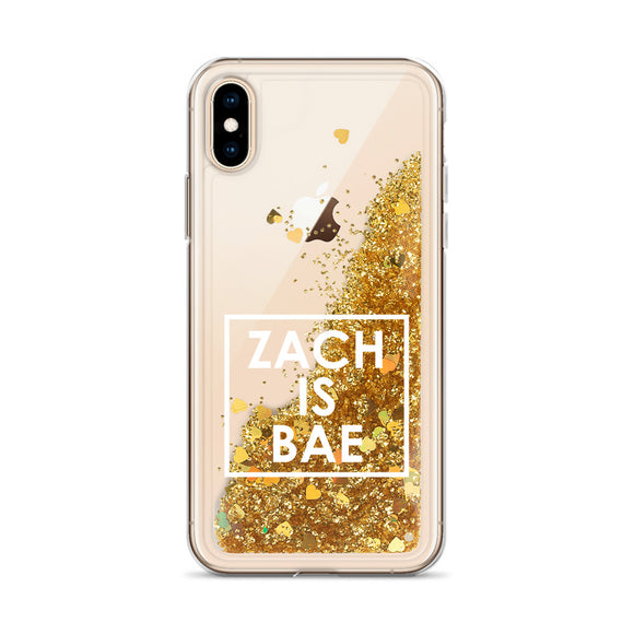 Zach Is Bae Liquid Glitter iPhone Case