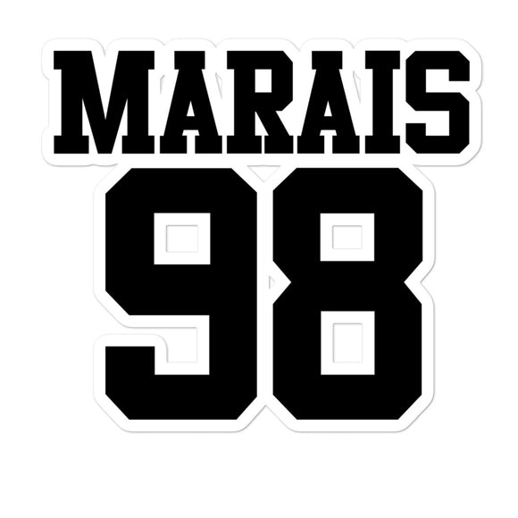 Marais 98 Bubble-free stickers
