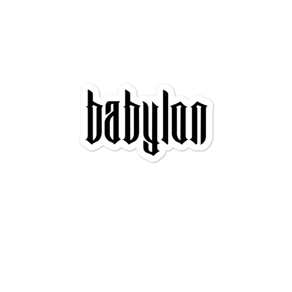 Babylon Bubble-free stickers