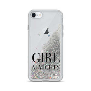 Girl Almighty Liquid Glitter iPhone Case