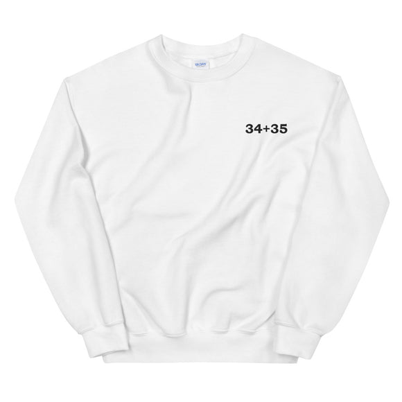 34+35 Embroidered Unisex Sweatshirt