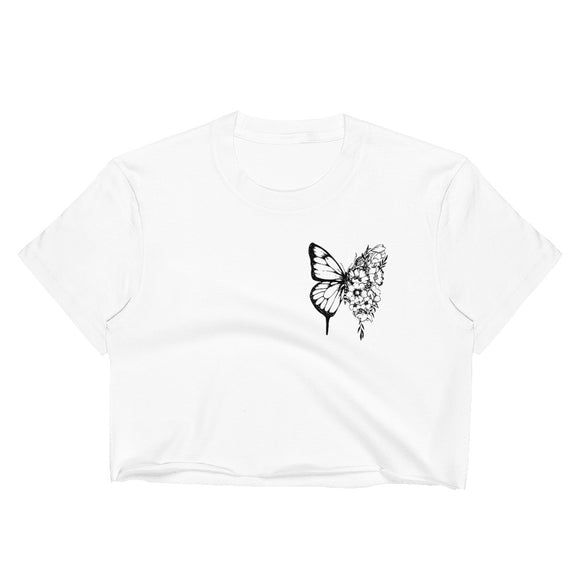 Shawn Butterfly Women's Crop Top