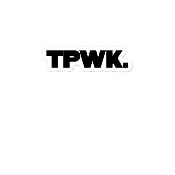 TWPK. Bubble-free stickers