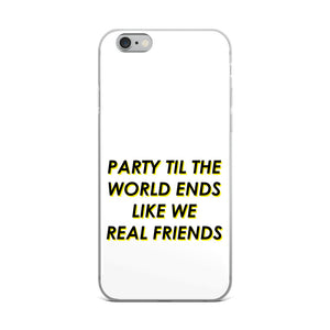 Like We Real Friends iPhone Case