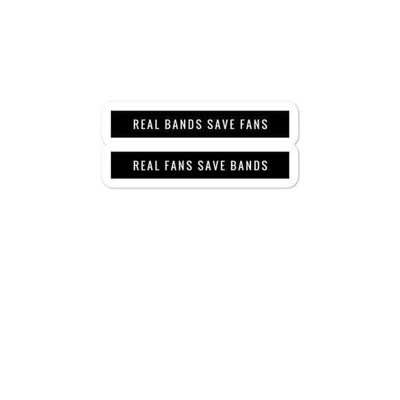 Real Bands Save Fans Bubble-free stickers