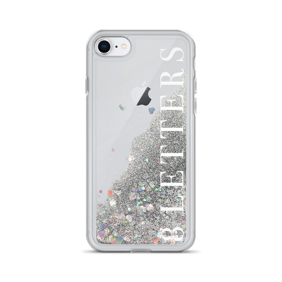 8 Letters Liquid Glitter iPhone Case