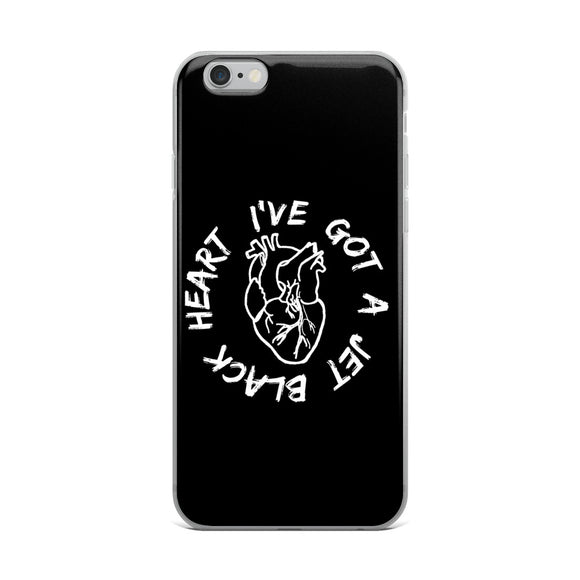 I've Got A Jet Black Heart iPhone Case