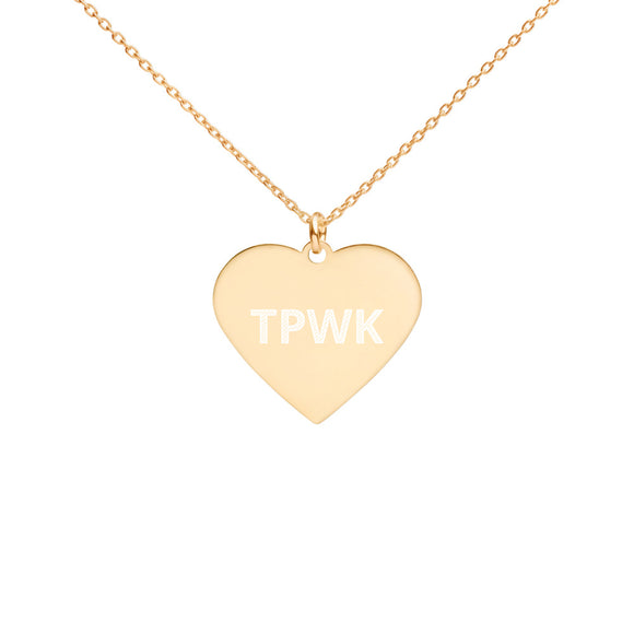 TPWK Engraved Heart Necklace