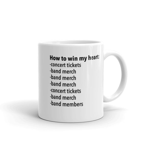 How To Win My Heart Mug