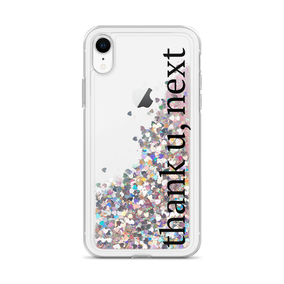 Thank U Next Liquid Glitter iPhone Case