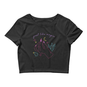 Just Like Magic Women's Crop Tee