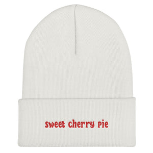 Sweet Cherry Pie Cuffed Beanie