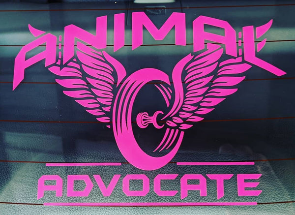 Animal Advocate Window Sticker (8 inches x 6 inches)
