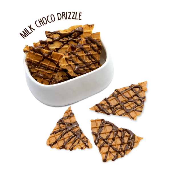 Waffle Chips - Milk Choco Drizzle - Box of 4