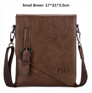 VICUNA POLO Unique Buckle Design Irregular Cover Open Mens Messenger Bag 2  Sizes Business Men Crossbody 8a398a6c176a3