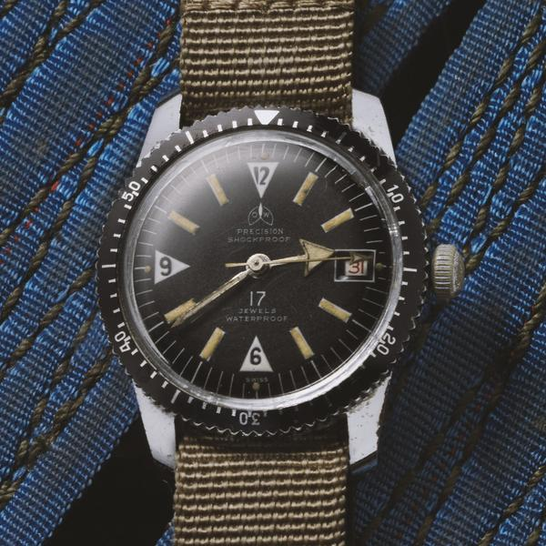 Ollech & Wajs OW vintage diver NASA Dr Anthony Llewellyn