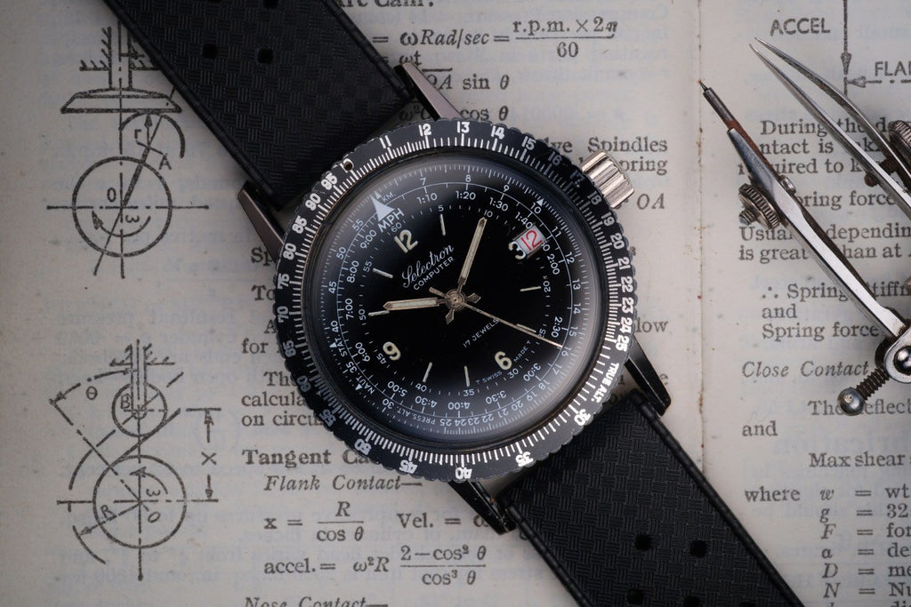Ollech and Wajs OW watch Selectron Computer ref 001 swiss made