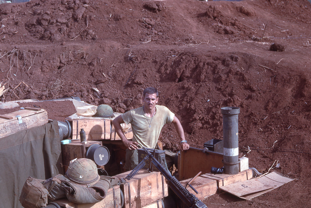 The pervasive red dirt of Khe Sanh stained fatigues and even penetrated skin, giving the Marines a distinctive red hue.