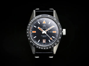Ollech & Wajs Zurich OW P-104 swiss made pilot watch RAF strap black dial 300 meters