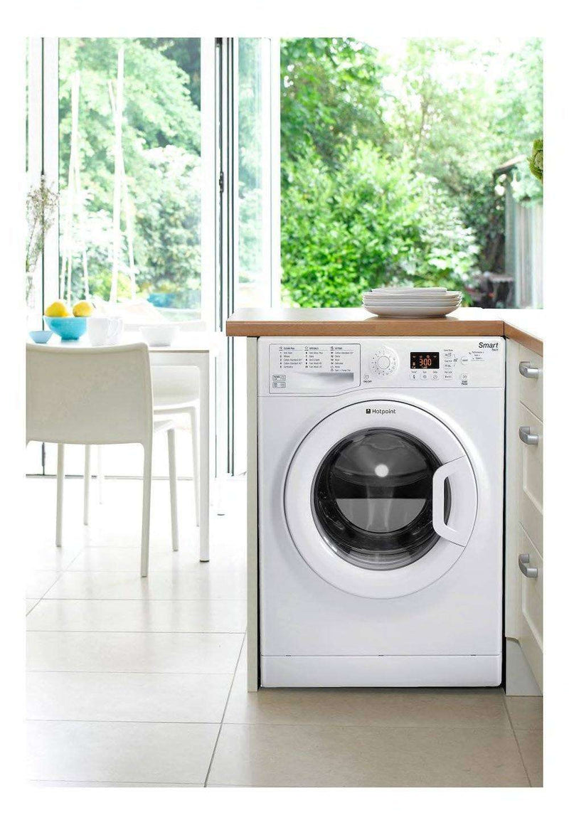 HOTPOINT Smart WMFUG842P Washing Machine - White - Lintronics Group LTD